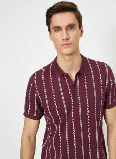 Koton Polo Yaka T-Shirt Bordo